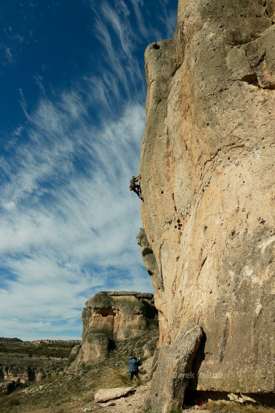 José en Piensa hoy cómo escalar mañana - sector Gena - Cuenca - Foto Darek