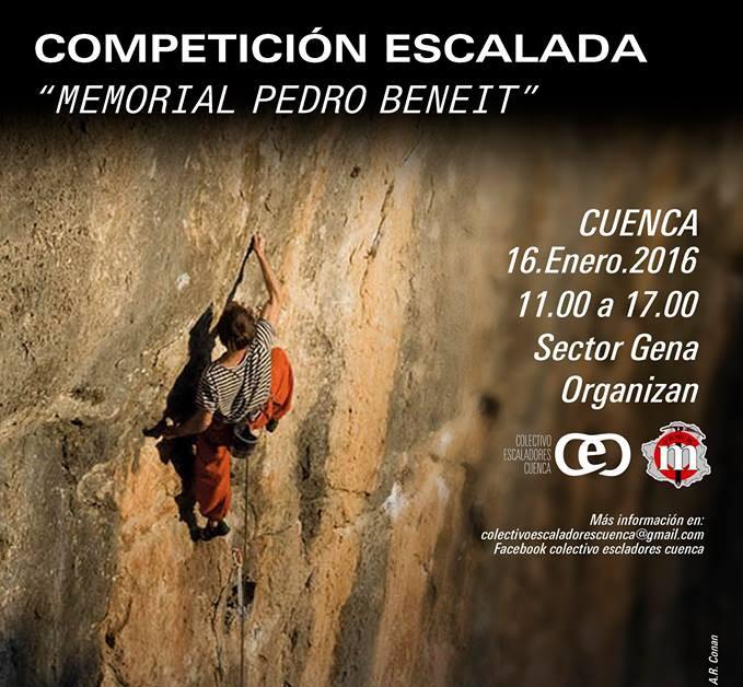 Competición de escalada en Cuenca en el sector Genena. 16ener2016